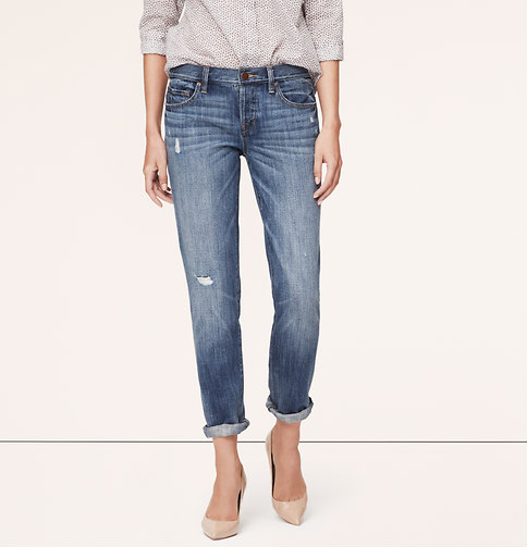 Boyfriend Jeans in Vast Blue Wash