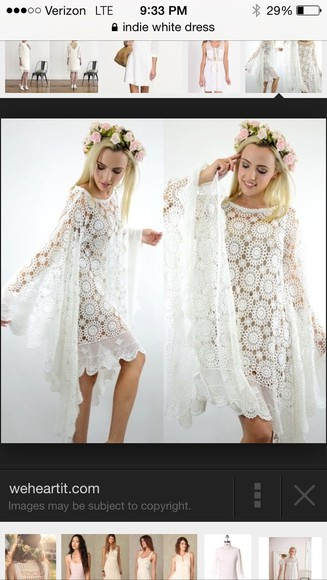 dress white short dress white lace white dress crochet white crochet dress