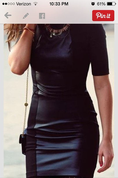 Classy Party Dress Black Black Dress Black Leather Dress Leather