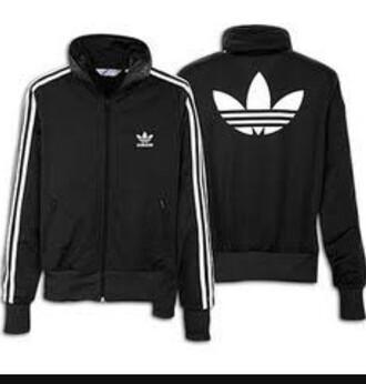 jacket black adidas
