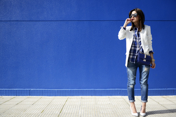lovely pepa jacket jeans shirt bag shoes sunglasses jewels