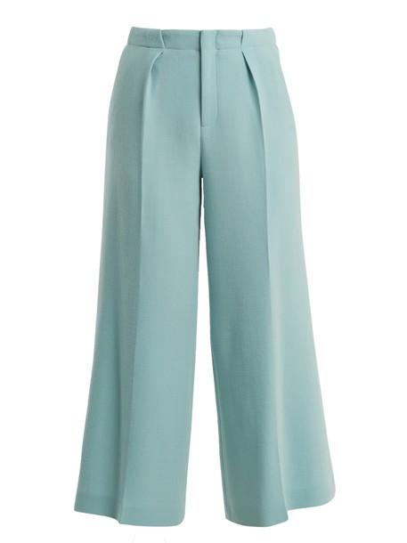 Roland Mouret high wool light green pants
