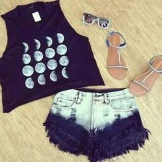 shorts 😜 moon moon shirt