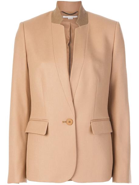 blazer women spandex fleur cotton wool brown jacket