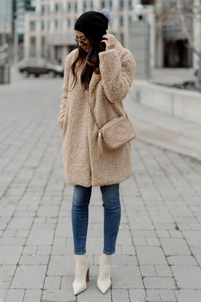 8b0a74033b6 coat tumblr camel camel coat camel fluffy coat fluffy fuzzy coat teddy bear  coat jeans denim