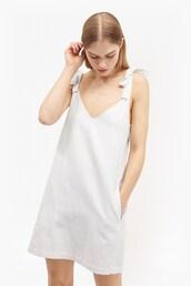 dress,summer dress,white dress,zara,bows