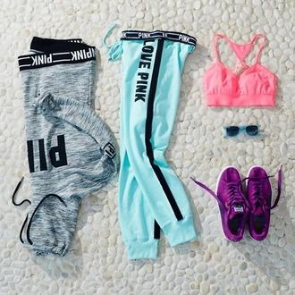 leggings pants victoria's secret pink pink by victorias secret