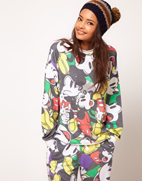 ASOS | ASOS Sweatshirt with All Over Mickey Print at ASOS