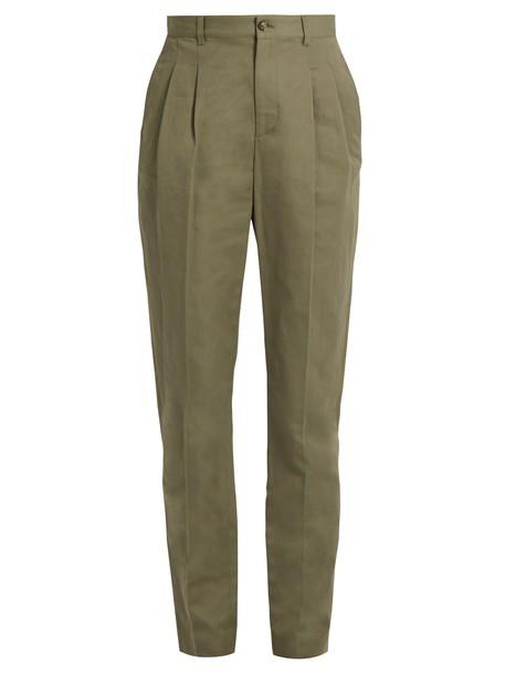 A.P.C. cotton khaki pants