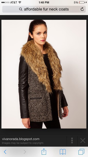 coat fur collar wool