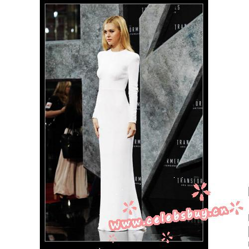 Nicola peltz white dress designer