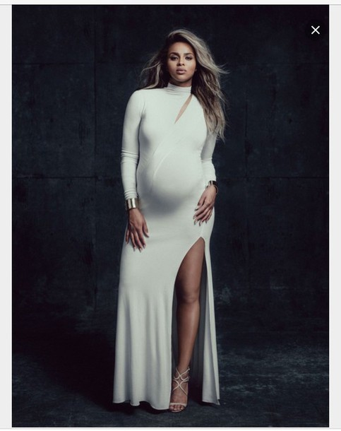 Dress: white maxi dress, ciara, maternity, maxi dress - Wheretoget