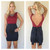 Burgundy & Black Bow V-Back Dress                           | Dainty Hooligan Boutique