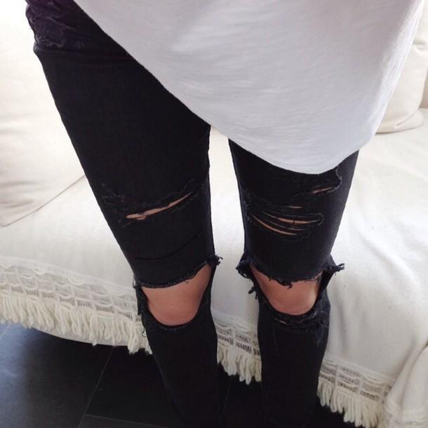 Jeans ripped jeans black ripped jeans black jeans blouse black ripped black ripped pants ...