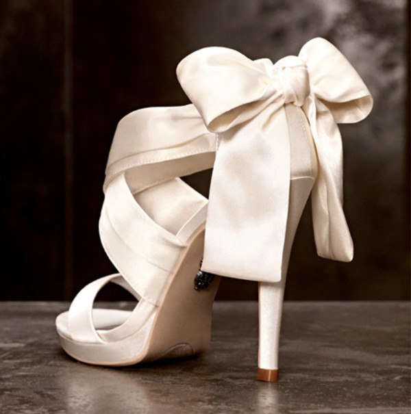 shoes wedding white satan open toes ribbon high heels wedding shoes ribbon high heels bride pink wedding heels baby pink high heels bow shoes bow heels nice open heels high heels beautiful heels vera wang black bridal shoes