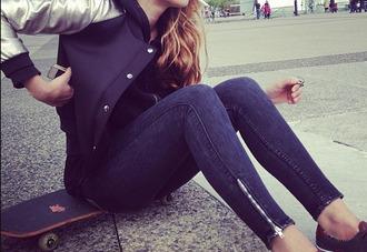 jeans blue zipp zip denim