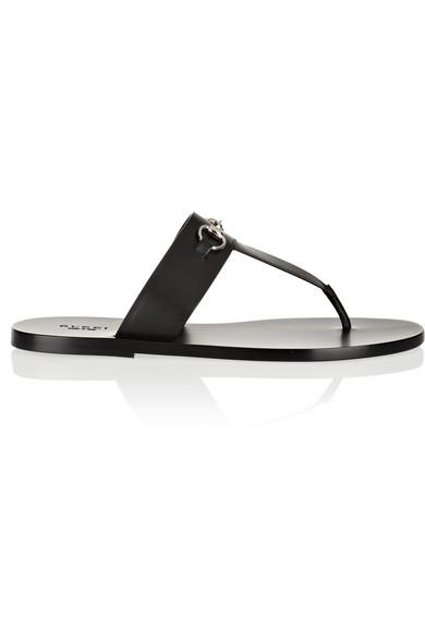 Gucci|Horsebit-detailed leather sandals|NET-A-PORTER.COM