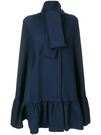 cape women spandex blue wool top