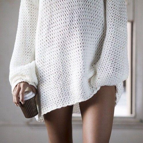 Ari knit oversized boyfriend sweater