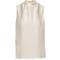 Fenella ruffled-neck sleeveless silk top