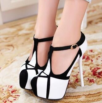 gorgeous black and white high heels platform high heels suede gold cute babie baby pink high heels baby shoes strappy sandals party shoes t-strap heels