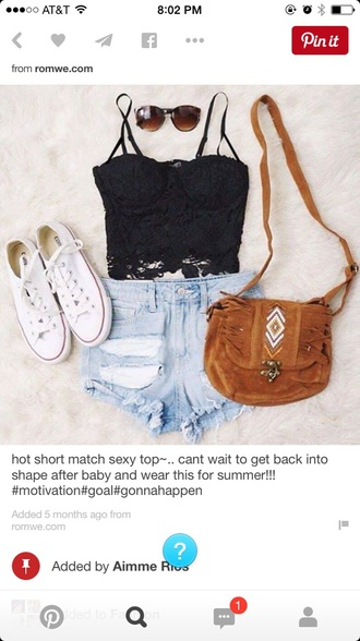 top summer top tank top bag shorts