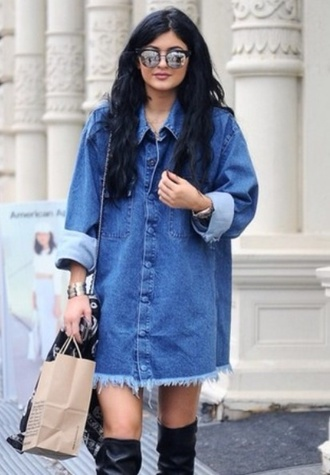 blouse denim dress