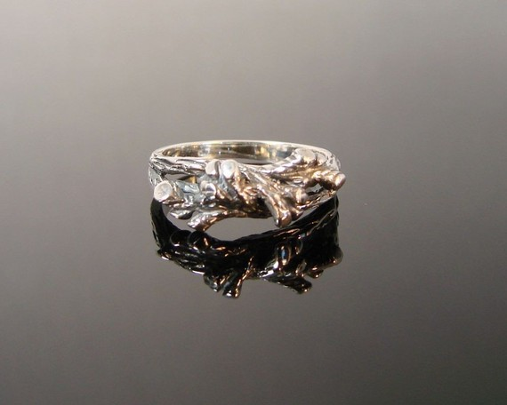 Twigs and Branches  Sterling Silver Ring  161 by Firefallstudios