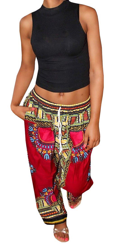 Ybenlow Women's Bohemian Wide Leg Drawstring Lounge Palazzo Pants Trousers at Amazon Women's Clothing store: