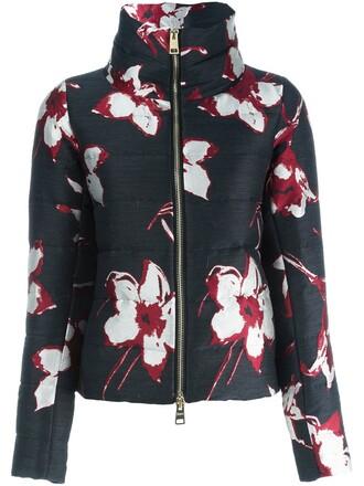 jacket floral black