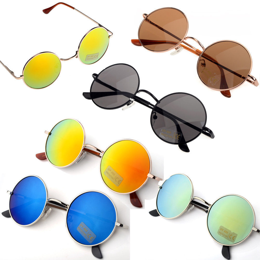 Unisex Hippie Shades Hippy 60s John Lennon Style Vintage Round Peace Sunglasses | eBay