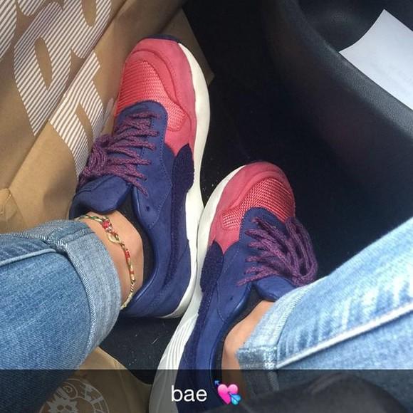 shoes sneakers rose puma puma shoes violet