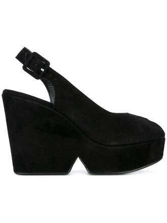 women sandals platform sandals leather suede black shoes