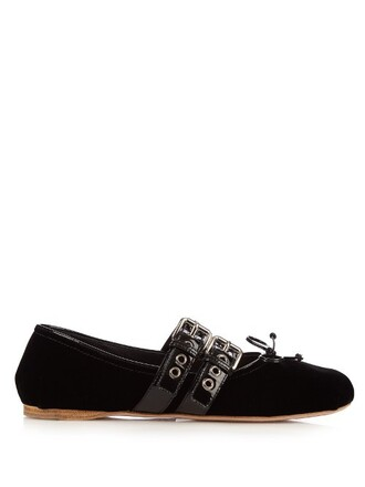 flats leather flats leather velvet black shoes
