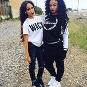 shirt,nike sneakers,sneakers,jordans,denim,jeans,black,pants,black pants,baggy pants,oversized t-shirt,sweater,sweatshirt,t-shirt,white,graphic tee,graphic sweater,dope,streetwear,street,swag,hat,clothes,shoes,india westbrooks,uoeno,black and white,long sleeves,wack,nike,blouse,hip hop,wc,white t-shirt,top,joggers,gloves,celebrity,cardigan,pretty on fleek,black jeans,black top,white top,urban,baddies,fashion toast,fashion vibe,fashion is a playground,fashion,fashion coolture