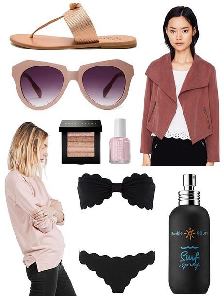 the glam files blogger sunglasses jacket sandals black bikini