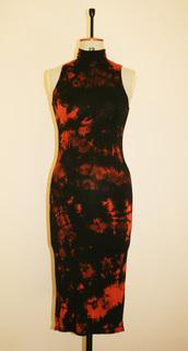 dress,festival dress,black dress,midi dress,bodycon,bodycon dress,tie dye,festival,boho dress