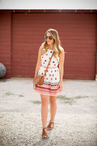 aztec shoes pattern print beach summer outfits sandals gal meets glam bag make-up summer dress clutch sunglasses pretty dress patterned dress classy