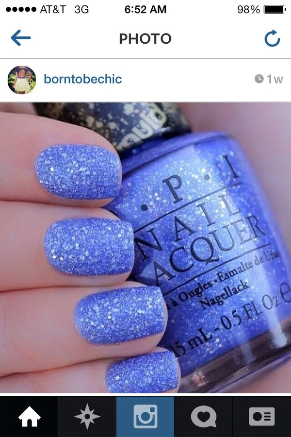 nail polish o.p.i. blue liquid sparkle light blue sparkle