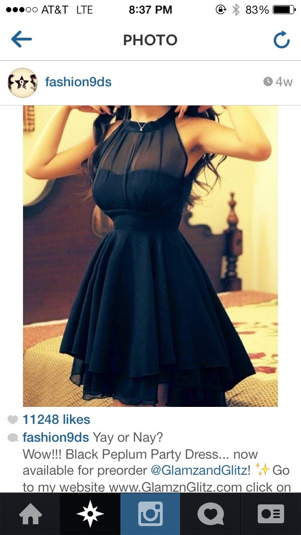 dress little black dress pretty