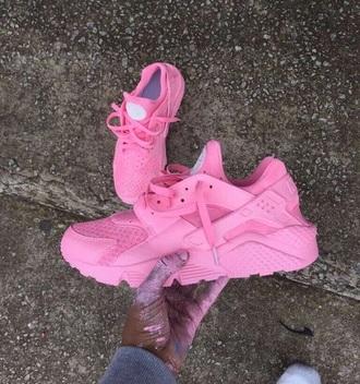 shoes pink nike huaraches nike light pink women