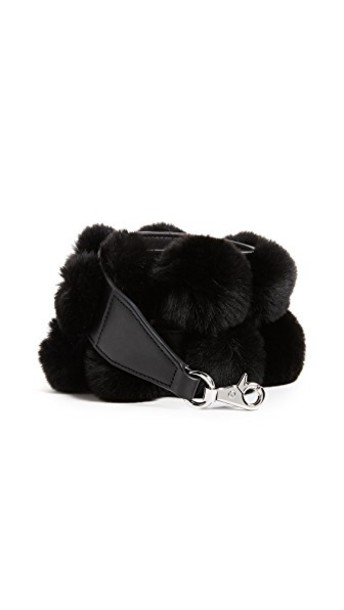 Alexander Wang fur bag black