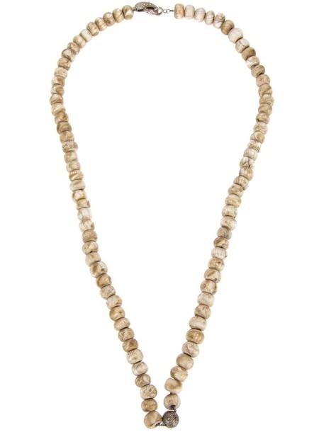 Loree Rodkin women beaded necklace gold nude jewels