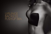 underwear,backless,bra,black,push-up
