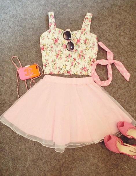 dress summer outfits blouse skirt top shirt le haut et la jupe
