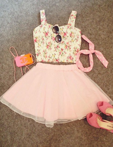dress summer outfits blouse skirt shirt le haut et la jupe