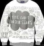 sweater,thefaultinourstars crew neck