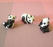 home accessory,mini bear,panda,bear,doll house,miniature,miniature panda,miniature bear,mini animal,bear ceramic,panda ceramic,fairy house