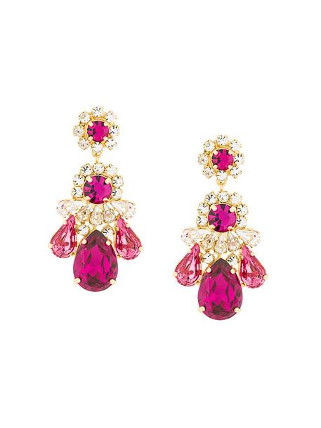 SHOUROUK women earrings purple pink jewels