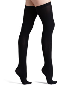 Commando Up All Night Opaque Thigh Highs, Black - Neiman Marcus
